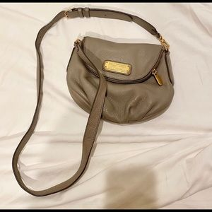 Marc By Marc Jacobs Taupe Pebble Leather Crossbody